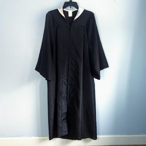 "Black Graduation Gown w/ White Collar: 50"" Length"